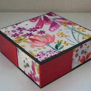 お花いっぱいの引き出しボックス(生徒さん作品)