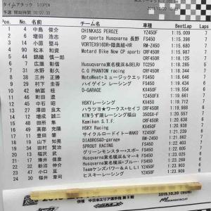 全日本スーパーモト選手権R7美浜 タイムアタック終了