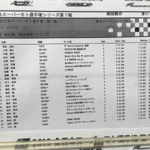 全日本スーパーモト選手権R7美浜 ヒートレース終了