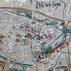 リルシュルラソルグの町を地図とともに