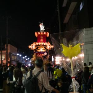 川越祭りとコウモリ飴