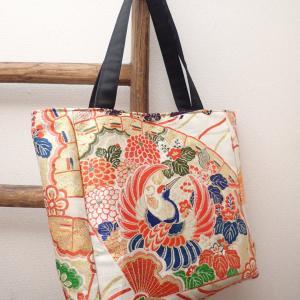 豪華和刺繍の丸帯トートバッグ