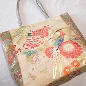 豪華刺繍の名古屋帯リメイクバッグ