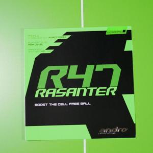薄いシートと極厚スポンジが特徴 弧線タイプ「andro RASANTER R47」