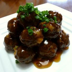 【簡単レシピ】れんこん入り肉団子♪甘酢あんかけ♪