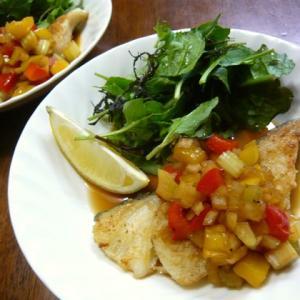 【簡単レシピ】白身魚のムニエル♪香味ソース♪
