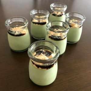 【簡単レシピ】抹茶プリン♪黒蜜きな粉♪