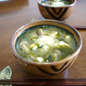 【簡単レシピ】あおさ海苔の豆腐としめじのお味噌汁♪