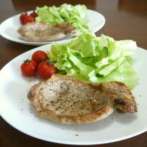 【簡単レシピ】味付けは【塩・胡椒】簡単!ポークソテー♪