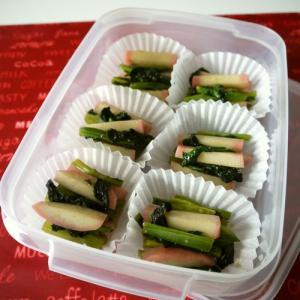 【冷凍ストック】小松菜と蒲鉾のサッと煮♪