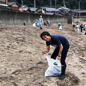 ◆泊海水浴場清掃