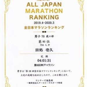 全日本マラソンランキング・・・