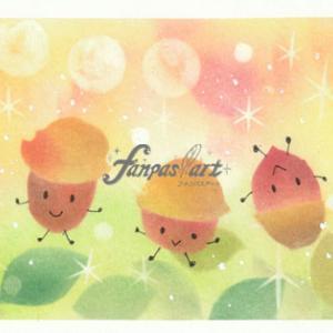fanpas!art『どんぐりちゃん2020』ダイソー★100均パステルで秋アート