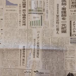 今朝の日経一面「青山商事、売場最大半減」「六割の400店、スーツ離れで」