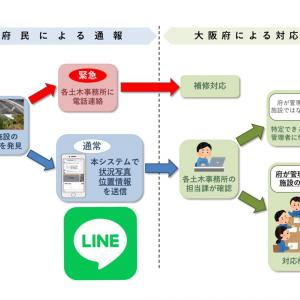 LINEを活用した「大阪府道路通報システム」