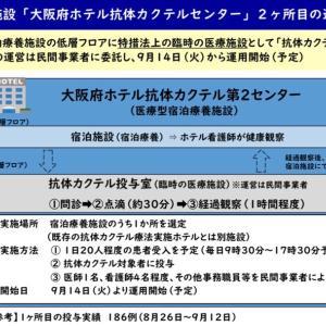 2か所目、大阪府ホテル抗体カクテルセンター