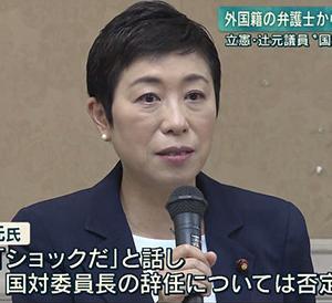 辻本清美の総理に対する罵詈雑言は、いかなる理由でも正当化されない