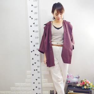 【しまむら】紫ジャケット×ホワイトパンツでコーデ♪&楽天超ポイントバック祭お得なアイテム!!