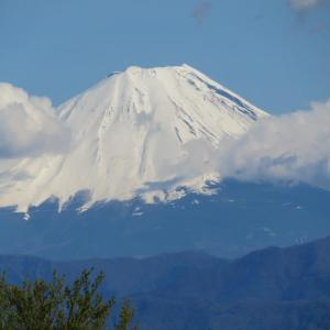山々はまたも白く色濃くなった