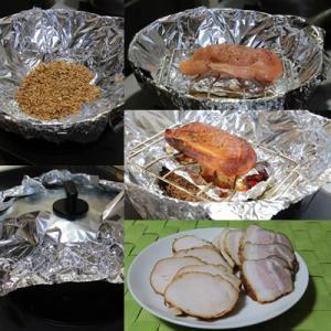 ピチットを使って中華鍋で燻製