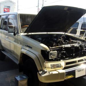 トヨタ・ランドクルーザープラド(KZJ78)の車検整備