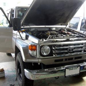 トヨタ・ランドクルーザー(HZJ76)の車検整備