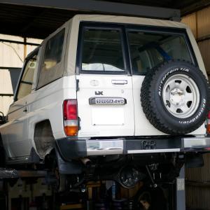 トヨタ・ランドクルーザー(HZJ70)の車検整備
