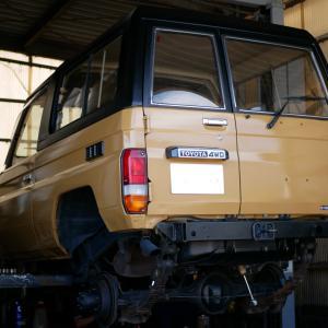 トヨタ・ランドクルーザー(HZJ78V)の車検整備