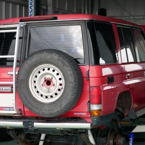 トヨタ・ランドクルーザー(HZJ76V)の車検整備