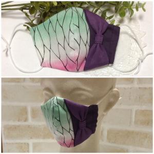 蝶の羽リボンマスクの試作