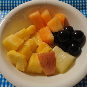 american cherry cut fruits melon pain
