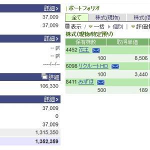 株を始めて13年5ヵ月。100万円は。。。