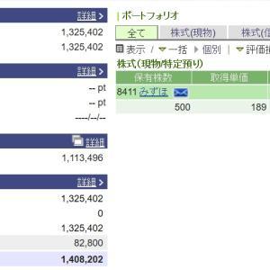 株を始めて13年7ヵ月。100万円は。。。