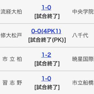 久しぶりにブログで、高校サッカー千葉(インターハイ準々決勝)