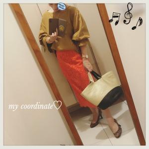 こっくりな秋カラーのSHIPSブラウスとIENAのレーススカートでザ・イエベなコーディネート♡