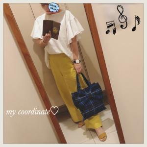 白×黄色×ネイビーでコーディネート♡夏の手元を楽しむ!DW大きめフェイスの腕時計&クーポン情報♪