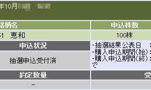恵和(4251)のIPO(新規上場)補欠当選!