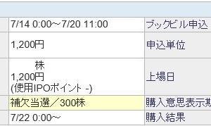 モダリス(4883)のIPO(新規上場)補欠当選!