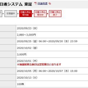 日通システム(4013)のIPO(新規上場)抽選結果!