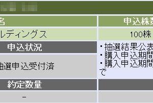 テスホールディングス(5074)のIPO(新規上場)複数当選!