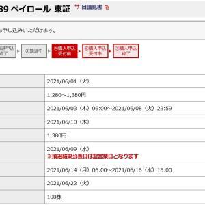 ペイロール(4489)のIPO(新規上場)補欠当選!