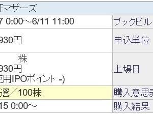 アイドマ・ホールディングス(7373)のIPO(新規上場)当選!