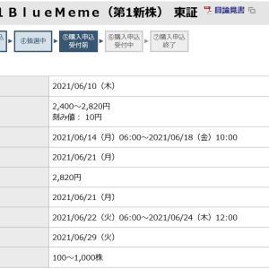 BlueMeme(4069)のIPO(新規上場)抽選結果と公募価格!