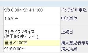 デジタリフト(9244)のIPO(新規上場)当選!
