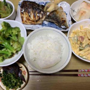 今日は日本の鯖の塩焼き