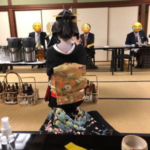 金沢で最も歴史ある料理屋さん つば甚@にし茶屋の芸妓さんの舞を観ながら新年会(^^)後編