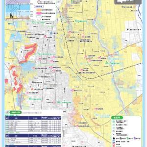 (大雨や線状降水帯)住む地域や通勤・通学場所のハザードマップ確認を