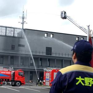(大野市消防総合訓練)明治の大火教訓に、きょう一斉放水など披露