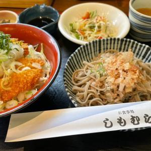(大野市ランチ)店舗リニューアル!ミニSK丼おろし蕎麦セット@しもむら