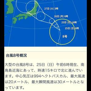 (台風8号)27日日本上陸のおそれ!避難行動などあらかじめ準備を